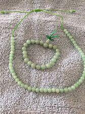 Adjustable Necklace & Stretchy Tibetan Energy Mala Bracelet Set - Aventurine