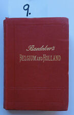 Baedeker Belgium and Holland 1905 (W.)