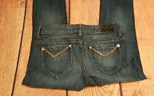 Guess Denim Blue Jeans Chains Size 28 Skinny Jeans Zipper