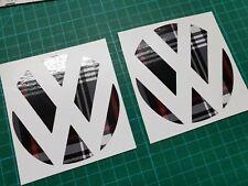 VW Polo MK6 Golf R GTi  Mk4 Mk5 MK6 vinyl Badge overlay Decals Stickers X2!