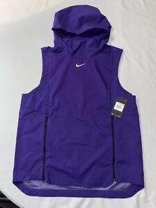 NWT Nike Alpha Fly Rush Hooded Training Running Vest Purple Hooded Zip Size L