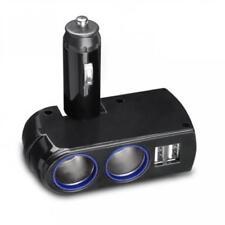 Car Charger Lighter Socket Splitter 2-Port Dual Usb Dc Socket For Cell Phones