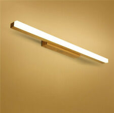 Wood Antifogging Waterproof Lamp Bathroom Wall Light Mirror Front LED Lighting