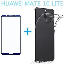 Film Integral Toughened Glass Blue for Huawei Matt 10 Lite + Silicone Cover