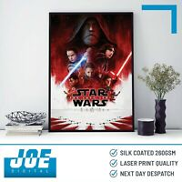 2017 STAR WARS: THE LAST JEDI - Movie Film Poster Print A3 A4 A5 - Home Decor