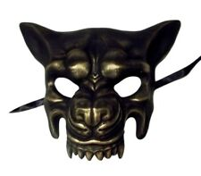 Scary Gold Wolf Masquerade Party Halloween Mask by KBW