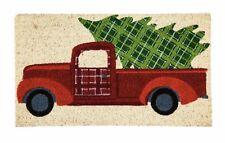 Christmas Tree Truck coir door mat