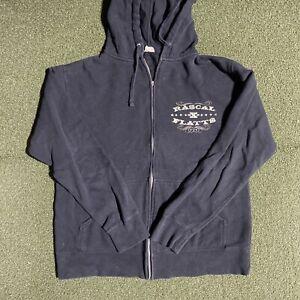 Rascal Flatts Sweatshirt Mens Medium Black Full Zip 2010 Country Music Hoodie