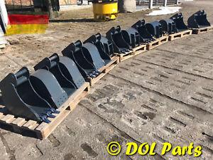 Tieflöffel MS01 25 30 40 50 60 70 cm Schnittbreite 1 - 3 t Bagger Löffel