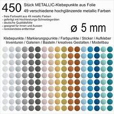 450 Stück Klebepunkte aus Folie metallic glänzend rund 5mm Aufkleber Inventur