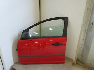 FORD FOCUS LX 2005 N/S PASSENGER SIDE FRONT DOOR COMPLETE IN RED #02