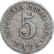Serbia 5 Para 1904 KM#18 Milan I (4697)