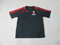 Adidas AC Milan Soccer Jersey Adult Extra Large Black Red Futbol Football Mens