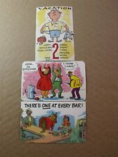 VINTAGE POSTCARDS  DEXTER PRESS C. 1950'S 2 SIGNED TONY ROY NOS  COMIC