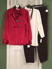 New Cato 22/24W Blouse Preswick &Moore 3X Turtleneck Style&Co Jeans Free Jewelry