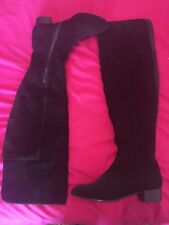 Over Knee Black Suede Boots 6.5 By Autograph - FREE POSTAGE