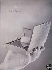 PUBLICITÉ 1952 STERLÉ JOAILLIER - ADVERTISING
