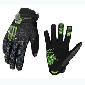 Mens Breathable Full Finger Cycling Gloves Racing MTB Offroad Motocross Dirtbike