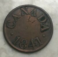 1841 Canada 1/2 Half Penny - Duncan and Company