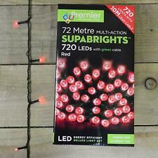 720 LED Christmas Lights 72m Premier Supabright Red INDOOR/OUTDOOR