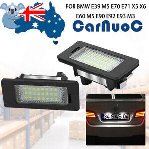 For BMW E39 M5 E70 E71 X5 X6 E60 E90 E92 2PCS LED License Plate Light Bulb Lamp