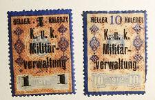 Austria occupation Russia revenue Militärverwaltung stempelmarken Revenues #lt18