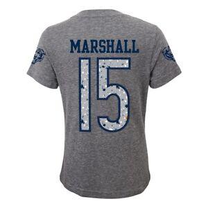Brandon Marshall NFL Chicago Bears Splatter N&N Grey Jersey T-Shirt Youth Girls