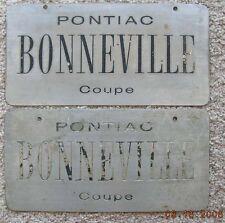 Pontiac Bonneville Coupe 50's dream, concept show car license plate pair GM Tech