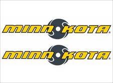 "Minn-Kota Fishing / Pair / 6"" Vinyl Vehicle Boats Gear Graphic Sticker Decals"