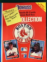 1988 Donruss Book: Puzzle & Cards Team Collection Boston Red Sox Uncut