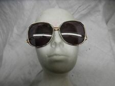 Vintage large sophia loren eyeglasses metal and plastic purple frames retro cool