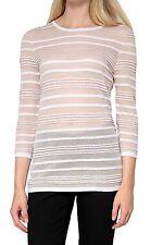 Gestreifte 3/4 Arm Damen-Pullover & -Strickware ohne Verschluss