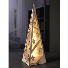 Pyramide mit Holz Rahmen 10LEDs 45cm Weihnachsbeleuchtung fensterdeko deco deko