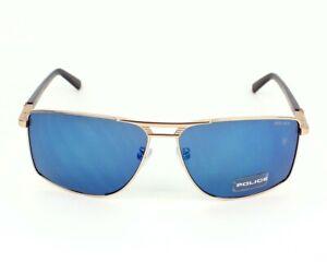 Police Flash 1 S8848 349B Sunglasses Gold Frame w/Blue Mirror Lens