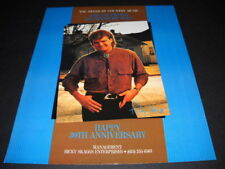 RICKY SKAGGS I'm Proud To Stand By You HAPPY ANNIVERSARY Promo Poster Ad
