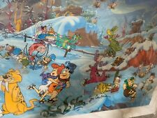 "New ListingHanna Barbera Flintstones Limited Edition Cel ""Winter wonderland "" Signed"