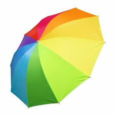 Taschen Regenschirm regenbogenfarben klein zusammenfaltbar praktisch Mini