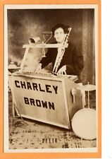 Studio Real Photo Postcard RPPC - Charley Brown Eccentric One Man BAnd