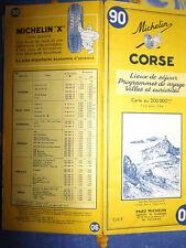 carte michelin 90 Corse 1964 2