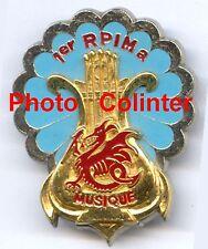 Insigne métal : Musique du 1er RPIMa - Parachutistes d'Infanterie de Marine -