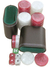 Backgammon Accessori Set. 30 GRANDE dama, dadi, Cubo, 2 TAZZE. GRATIS P&P UK
