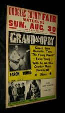 '70 FARON YOUNG COUNTRY DEPUTIES GRAND OLE OPRY Douglas County Waterloo Nebraska