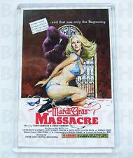 MARDI GRAS MASSACRE movie poster LARGE FRIDGE MAGNET