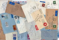 Uk 1950 Collection Of 40 Queen Elizabeth Issues On Covers Almost All To Us