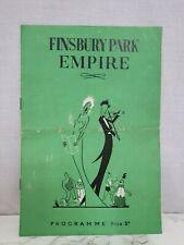 Finsbury Park Empire 1953 original programme Jewel & Warris