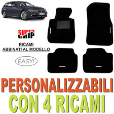 TAPPETINI AUTO SU MISURA PER BMW SERIE 3 F31 MOQUETTE FONDO GOMMA 4 RICAMI EASY