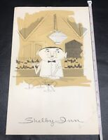 RARE MENU THE SHELBY INN UTICA MICHIGAN