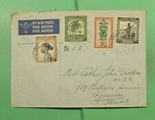 Dr Who Belgium Congo Coquilhatville Airmail To Usa f83602