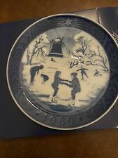 Royal Copenhagen Christmas Plate 1989 with original box and all packaging