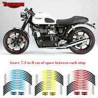 12PCS Wheel Decals Motorcycle front & Rear Edge Outer Rim Sticker For TRIUMPH